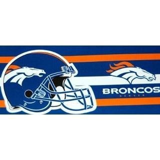 Denver Broncos Helmet Fiber Reactive Towel