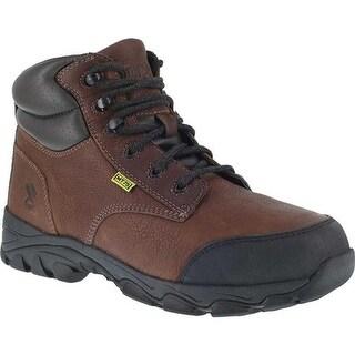 "Iron Age Men's Galvanizer 6"" Steel Toe Work Boot Brown Full Grain Leather"