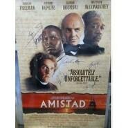 Signed Amistad Original Movie Poster size 27x40 by Morgan Freeman Matthew McConaughey Anthony Hopki