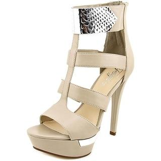 Fergie Refined Open Toe Synthetic Platform Heel