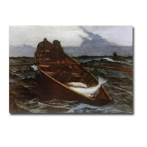Fog Warning by Winslow Homer Gallery Wrapped Canvas Giclee Art (24 in x 36 in)