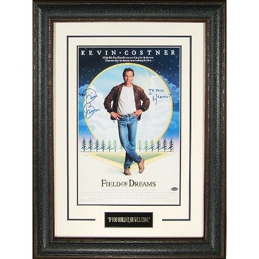 Shop Dwier Brown signed Field of Dreams 11x17 Movie Poster Leather ...