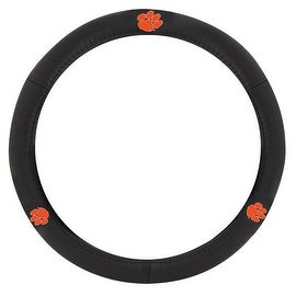 Pilot Automotive Black Leather Clemson Univ S Carolina Tigers Car Auto Steering Wheel Cover