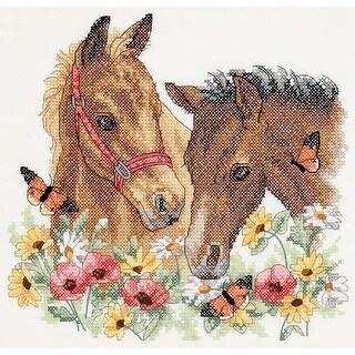 "Horse Friends Stamped Cross Stitch Kit-12""X11"""