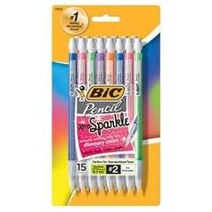 Assorted Barrels - Bic Xtra Sparkle Mechanical Pencils 15/Pkg