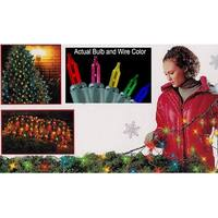 4' x 6' Multi-Color Mini Twinkling Net Style Christmas Lights - Green Wire - multi