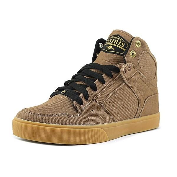 Osiris NYC 83 VLC DCN Men Round Toe Canvas Brown Skate Shoe