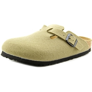 Birkenstock Boston Youth N Round Toe Canvas Green Clogs