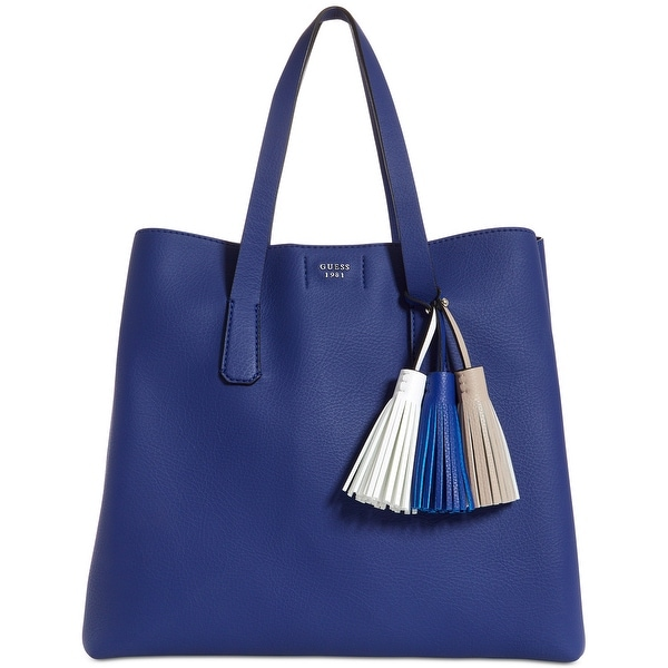 8dc4095a7 Shop GUESS Trudy Large Tote Bag Blue/Silver - Free Shipping Today ...