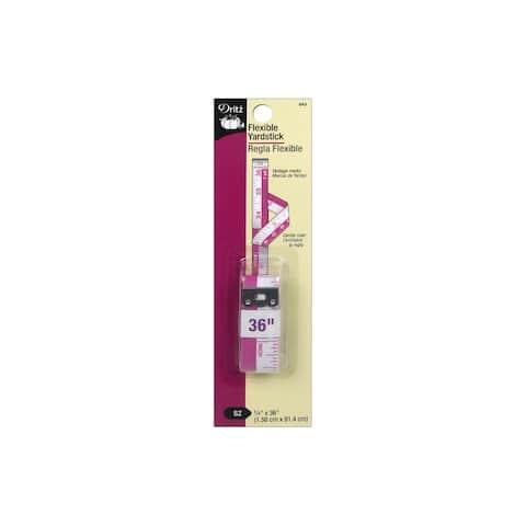 Dritz Flexible Yardstick White/Purple