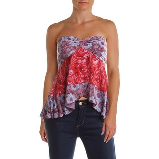 Intimately Free People Womens Tank Top Printed Strapless
