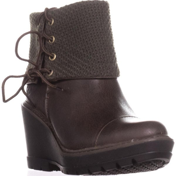 Timberland Kellis Mid Fold Down Wedge Boots, Olive