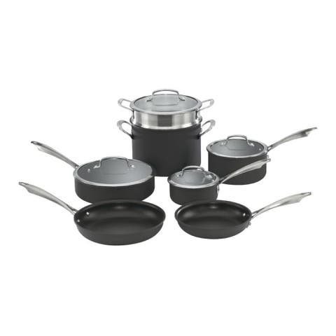 Cuisinart Dishwasher Safe Anodized 11-Piece Cookware Set