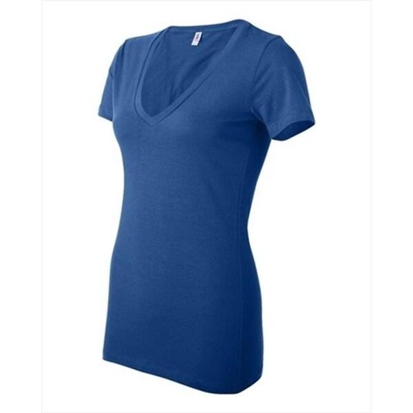 9359b425 Shop Bella-Canvas B6035 Womens Jersey Short Sleeve Deep V-Neck T-Shirt -  True Royal Marble Medium - Free Shipping On Orders Over $45 - Overstock -  27827444