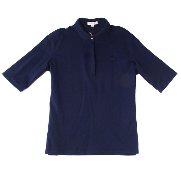 ed62eed171 Lacoste Blue Mens US Size 2XL (50) Slim Fit Short-Sleeve Polo Shirt