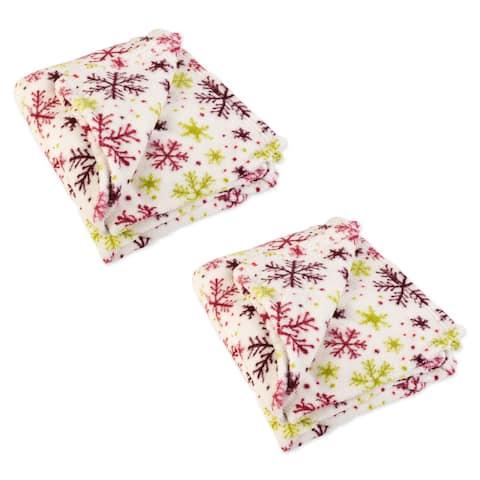 "J&M Holiday 2-Pack Plush Fleece Blanket, 50x60"""