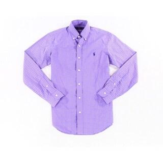 Ralph Lauren NEW Purple Mens Size Large L Long-Sleeve Button Down Shirt