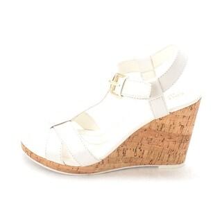 Cole Haan Womens Devonnesam Open Toe Casual Platform Sandals White Size 60