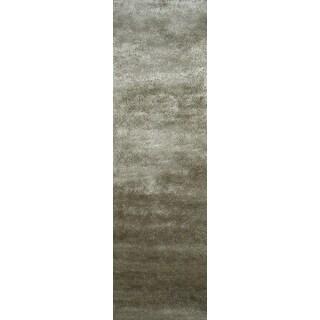"""Momeni Luster Shag Sage Hand-Tufted Shag Runner Rug (2'3 X 8') - 2'3"""" x 8' Runner"""
