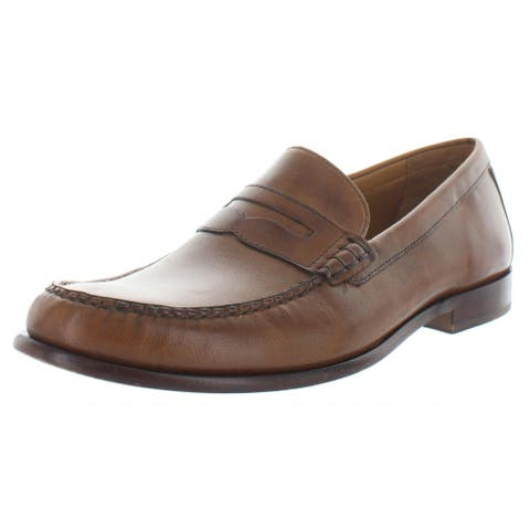 Cole Haan Mens Pinch Penny Loafers Leather Slip On - British Tan