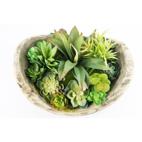 MODA MDW-1023-0454 wood pot decoration - 9.06*9.06*10.63