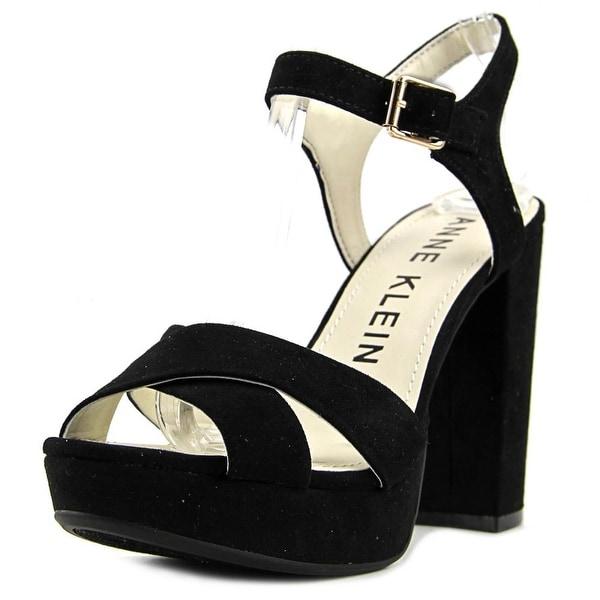 Anne Klein Lalima Women Open Toe Synthetic Black Platform Heel