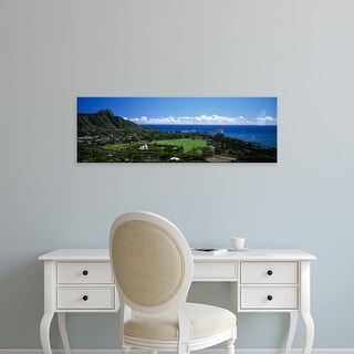Easy Art Prints Panoramic Images's 'Waikiki Oahu HI USA' Premium Canvas Art