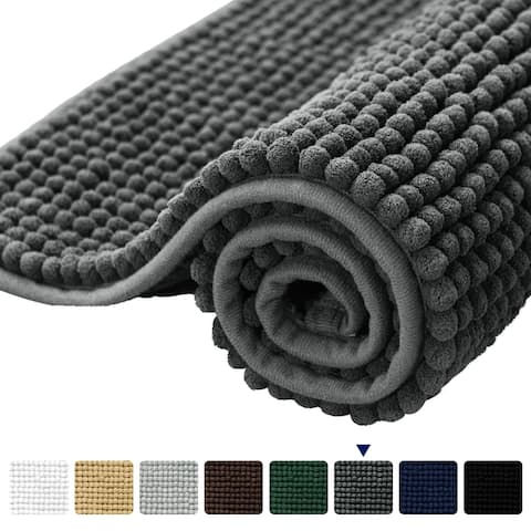 Subrtex Luxury Chenille Bathroom Rug or Bathroom Mat