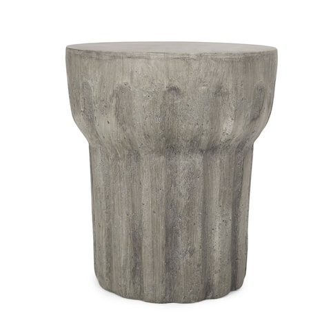 "Delphinus Outdoor Contemporary Lightweight Concrete Accent Side Table by Christopher Knight Home - 15.75""W x 15.75""D x 18.00""H"