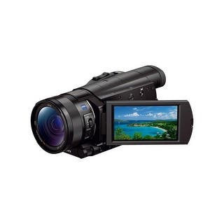 Sony FDR-AX100/B 4K Ultra HD Camcorder (Black)|https://ak1.ostkcdn.com/images/products/is/images/direct/abae1297fc94aa2600d20a907670f7bc0f0db9c8/Sony-FDR-AX100-B-4K-Ultra-HD-Camcorder-%28Black%29.jpg?impolicy=medium