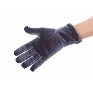 Snow Bunny Shirred Velvet Gloves with Thinsulate Lining