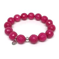 "Fuchsia Quartz Brook 7"" Bracelet"