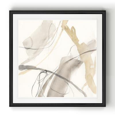 Neutral Momentum II -Black Framed Print