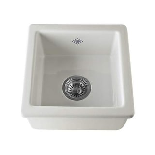 """Rohl RC1515 Shaws Original 11-3/4"""" Single Basin Undermount or Drop-in Fireclay K - White"""