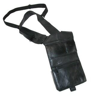 CTM® Leather Deluxe Travel Shoulder Wallet