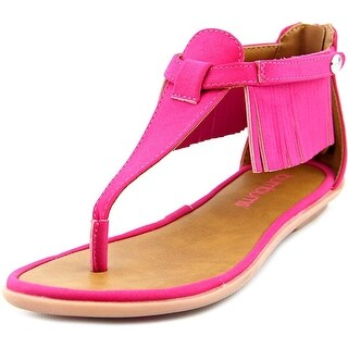 Bumbums & Baubles Sienna Youth Open Toe Synthetic Pink Thong Sandal