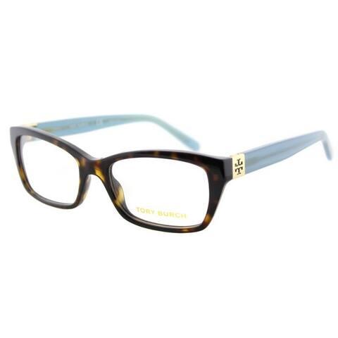 Tory Burch TY2049 Womens Havana Frame Clear Lens Rectangle Eyeglasses - Tortoise