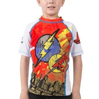 Fusion Fight Gear Kid's The Flash Crimson Comet Short Sleeve Rashguard|https://ak1.ostkcdn.com/images/products/is/images/direct/abb032cf9ad825f134154ccfac6f463c15fc7449/Fusion-Fight-Gear-Kid%27s-The-Flash-Crimson-Comet-Short-Sleeve-Rashguard.jpg?impolicy=medium