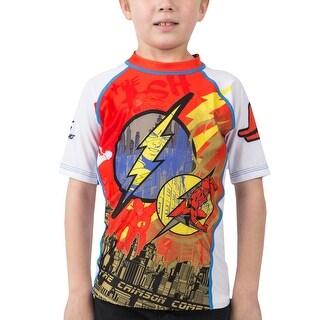 Fusion Fight Gear Kid's The Flash Crimson Comet Short Sleeve Rashguard