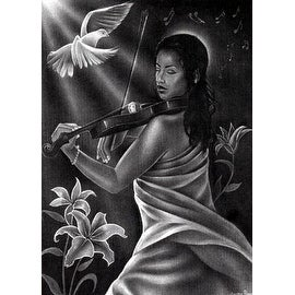 ''Abide in Me'' by Jerome Brown African American Art Print (36 x 24 in.)