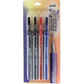 Marvy Uchida Gel Reminisce Pen Set 4/Pkg-2 Black, 1 Red & 1 Blue