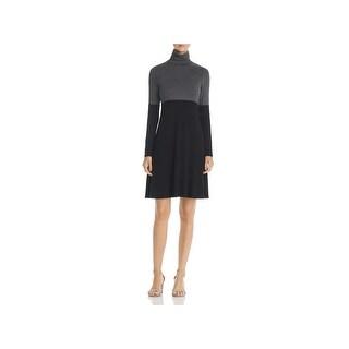 Robert Michaels Womens Wear to Work Dress Colorblock A-Line
