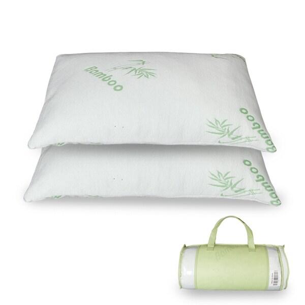 Bamboo Fiber Memory Foam Pillow Queen/King - White. Opens flyout.