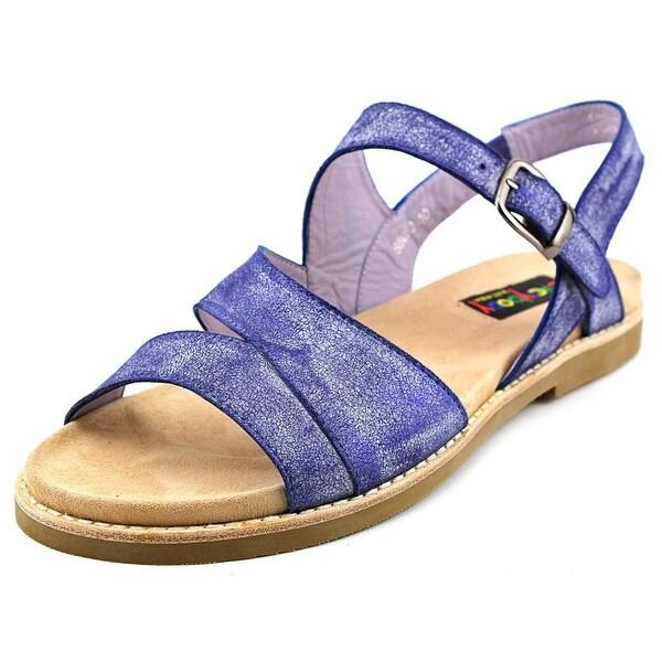 Everybody By BZ Moda Bidda Women  Open-Toe Leather Blue Slingback Sandal