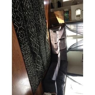 Safavieh Adirondack Maisie Vintage Boho Black/ Silver Rug - 8' x 10'