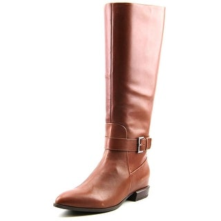 Nine West Diablo Women Pointed Toe Leather Brown Knee High Boot