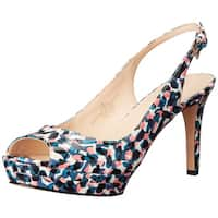 Nine West Womens Able Peep Toe SlingBack Platform Pumps
