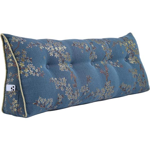 Large Decorative Wedge Pillow Headboard for Bed Reading Back Support