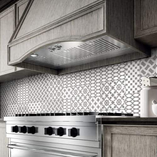 600 CFM 28 Inch Wide Insert Range Hood with Baffle Filters and Halogen  Lighting from the Arezzo Collection