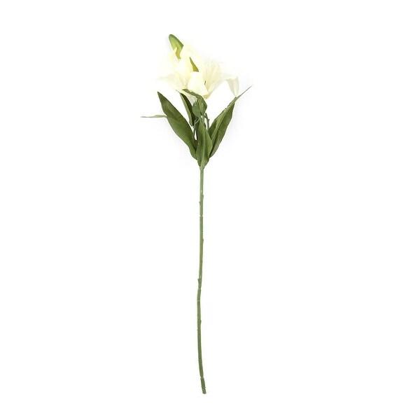 Wedding Garden Lily Design Desk DIY Decor Artificial Flower Bouquet Light Yellow
